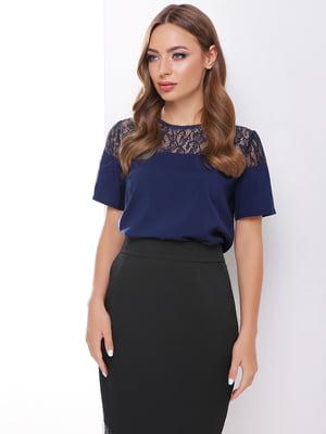 Блуза темно-синяя | 4499118