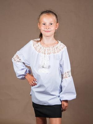 Блуза блакитна | 4505905