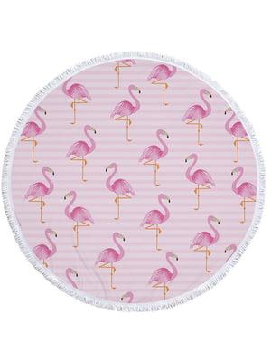 Пляжный коврик. «Фламинго» (145 см) | 4506811