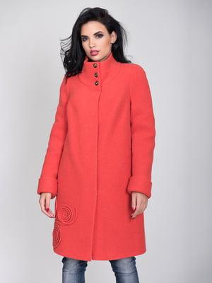 Пальто морковного цвета | 4466296