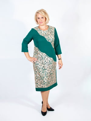 Платье темно-зеленое | 4507187