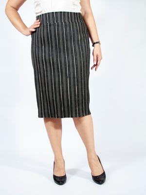 Спідниця чорна у смужку - Мисс мода - 4507207
