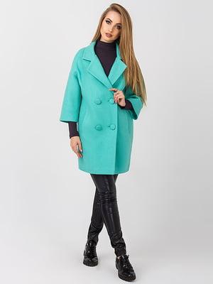 Пальто бірюзове   4510910
