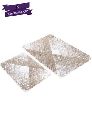 Набор ковриков для ванной (2 шт.)   4033002