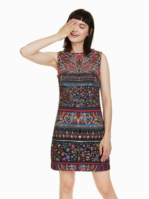 Платье черное в принт   4524350