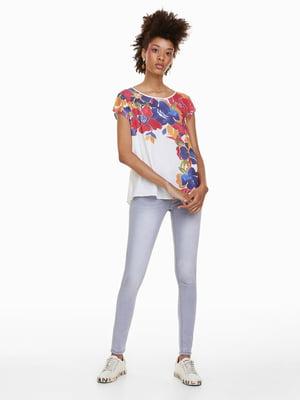 Блуза белая с принтом | 4524388