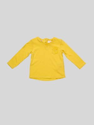 Лонгслив желтый | 2041312