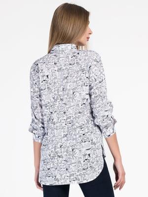 Сорочка біла в принт - CARICA - 4526713