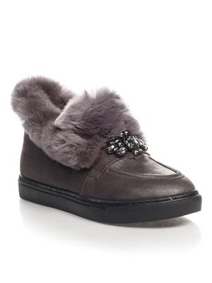 Ботинки серые | 4520844