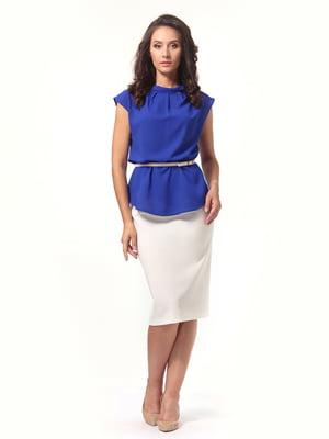 Блуза цвета электрик   4527614