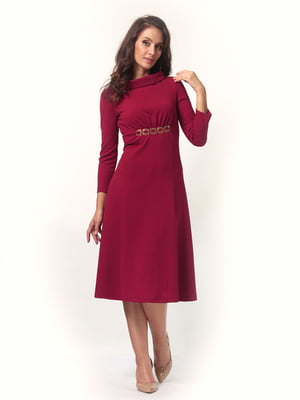 Платье бордовое | 4527627