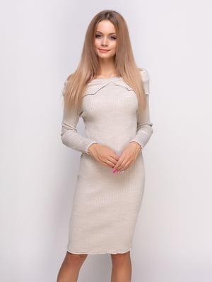 Платье бежевое   4523673