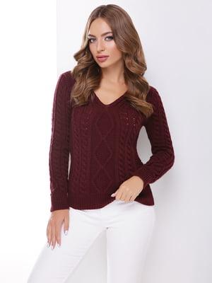 Пуловер цвета марсала | 4531620