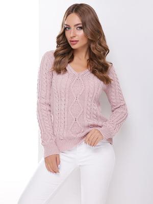 Пуловер кольору пудри | 4531621