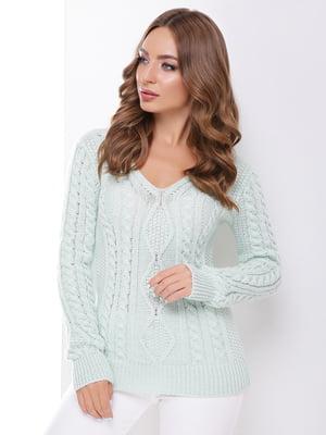Пуловер цвета мяты | 4531622