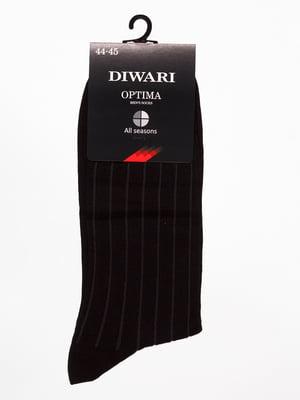 Шкарпетки чорні в смужку | 4451190