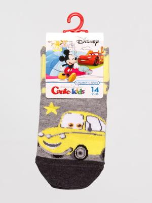 Шкарпетки сірі «Тачки» | 4366832