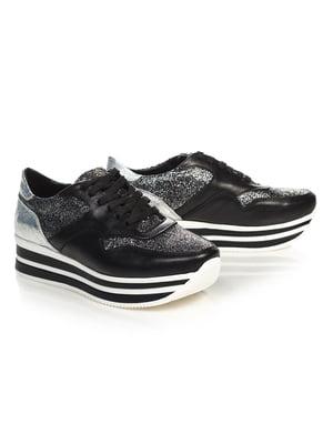 Кросівки чорно-сріблясті | 4527685