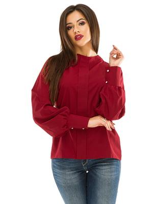 Блуза бордовая | 4534868
