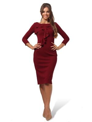 Платье бордовое   4535705