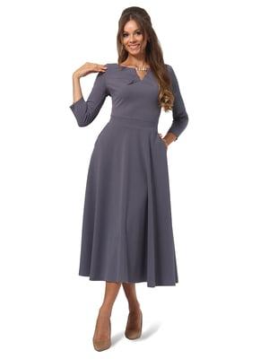 Сукня графітового кольору | 4535713