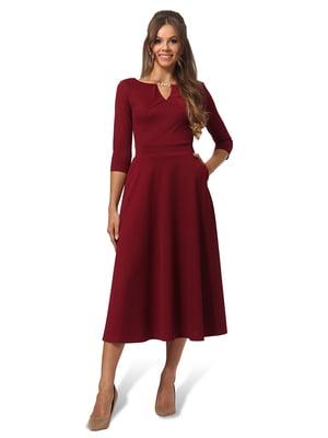 Платье бордовое | 4535715