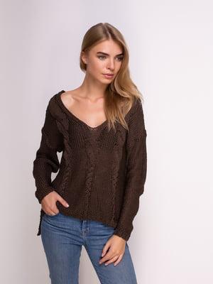 Пуловер коричневий | 2593682