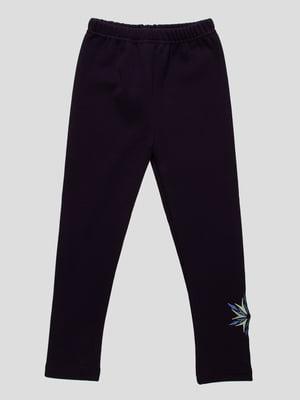 Брюки темно-синие с вышивкой | 3908022
