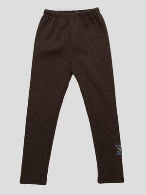 Брюки темно-серые с вышивкой | 3908021