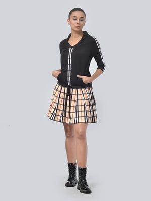 Сукня двоколірна в клітинку | 4535735