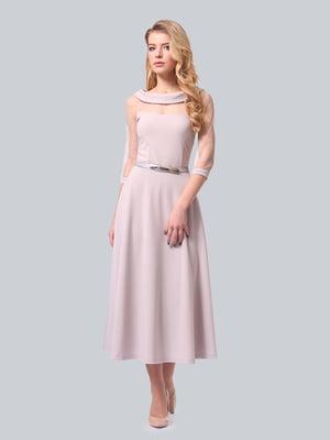Сукня кольору холодної пудри | 4535749
