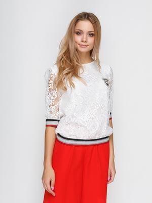 Блуза молочного цвета гипюровая | 4534745