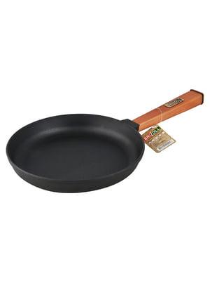 Сковорода чугунная (240х40 мм) с ручкой | 4539956