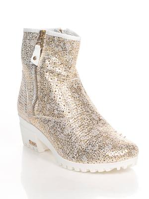 Ботинки золотистого цвета | 4540507