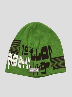 Шапка зеленая   28006