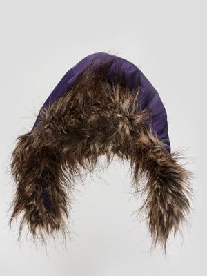 Шапка фиолетовая с мехом | 46172