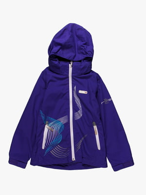 Куртка фіолетова з принтом | 361324