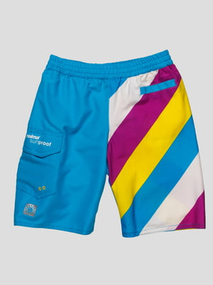 Шорты сине-фиолетовые пляжные | 449950