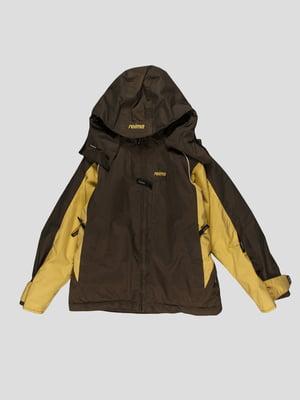 Куртка темно-сіра з жовтими вставками | 4398074