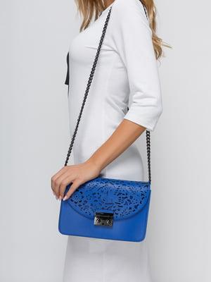 Сумка-клатч синього кольору | 4533373