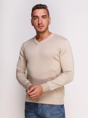 Пуловер бежевий | 4532493