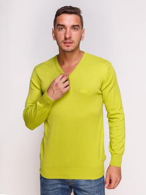 Пуловер салатового кольору | 4532496