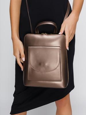 Рюкзак цвета таупе металлик | 4533370