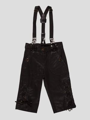 Капрі чорні з підтяжками | 4541298