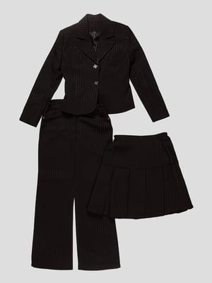 Костюм-трійка: жакет, спідниця і штани | 3501292