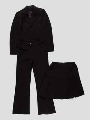 Костюм-трійка: жакет, спідниця і штани | 3501293