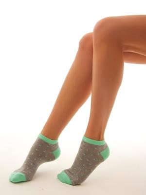 Носки двухцветные в горошек | 4546786