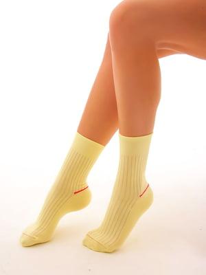 Носки лимонного цвета | 4546792