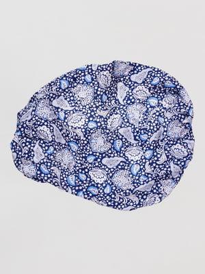 Пов'язка синя в принт | 4518891