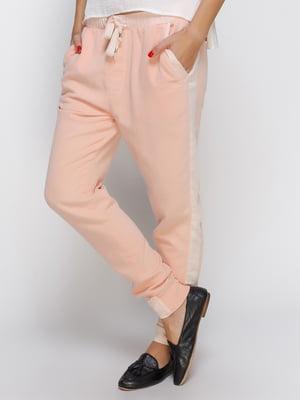 Брюки персикового цвета | 4510502